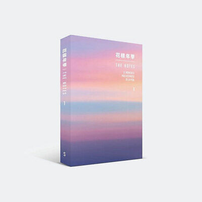 BTS 花樣年華 THE NOTES 1 Spanish Ver Book+Special Note Book+Tracking Number