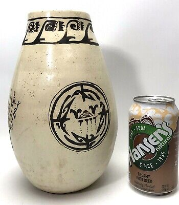 """Vintage Mary Yazzie Southwest Native American 1981 Signed Pottery Vase-9.5"""" Tall"""