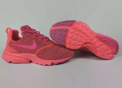 low priced 79148 4c90d NIKE PRESTO FLY SE Womens 910570-604 Hot Punch Pink Mesh Size 6.5
