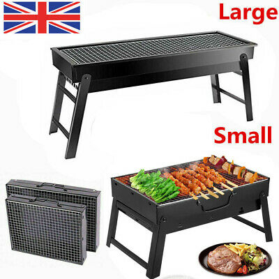 Portable BBQ Charcoal Barbecue Grill Steel Stainless Fold Camping Travel Stove