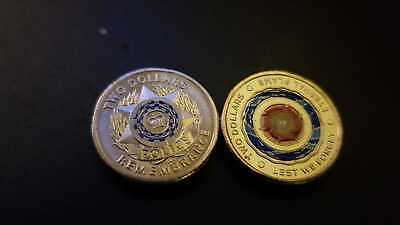 2019 $2 Australian Dollar Coin POLICE REMEMBRANCE & ANZAC Eternal Flame - UNC