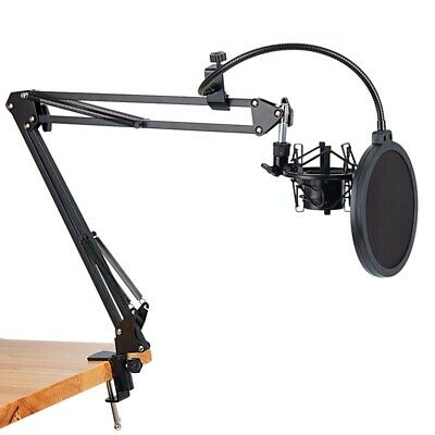 NB-35 Microphone Scissor Arm Stand and Table Mounting Clamp&NW Filter Winds I8S4