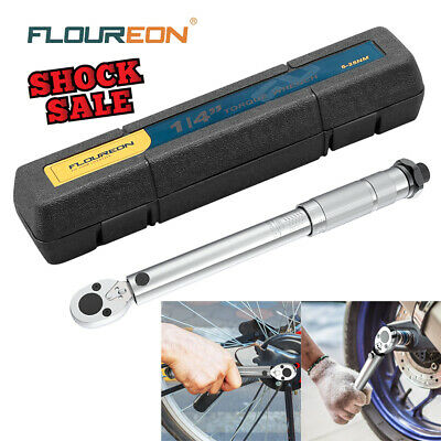 """Adjustable Torque Wrench 5-25Nm 1/4"""" Square Drive Click Hand Ratchet Tool UK new"""