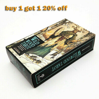 Hot! 78Pcs/Set Cards Wild Wood Tarot Cards Beginner Deck Vintage Fortune Telling