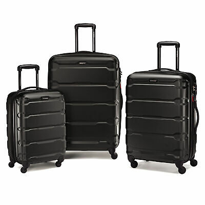 Samsonite Omni PC 3 Piece Spinner Set Black - Luggage