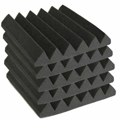 12 Pack Acoustic Wedge Studio Foam Sound Absorption Wall Panels 2 inch x 12 A4E1