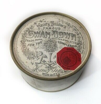 Unopened Henry Tetlow's Famous Swan Down Complexion Face Powder Philly USA 1800T