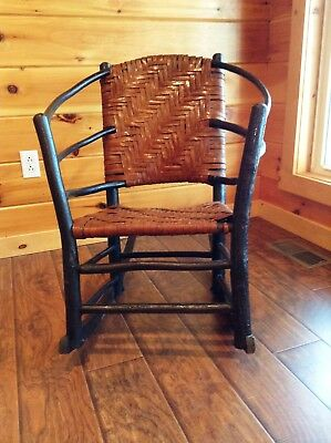 Antique Old Hickory Chair Company Andrew Jackson Rocker, Marked. Great Condition