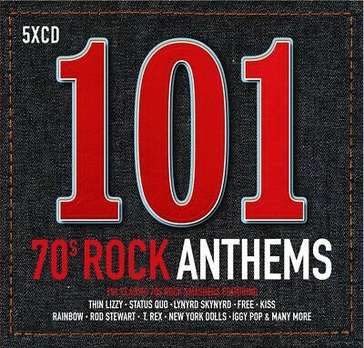 101 70s Rock Anthems (Various Artists) [New & Sealed] 5 CD Pack