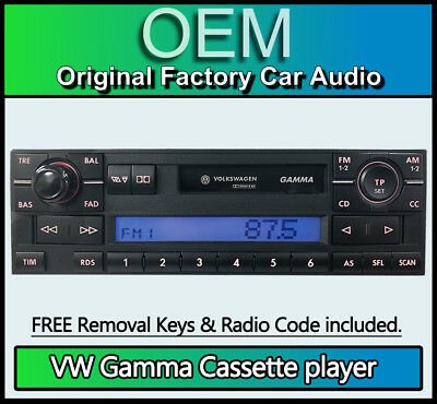 GENUINE VW NEW Beetle Gamma Cassette Radio Stereo With Red