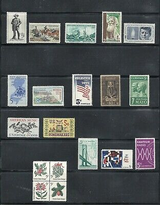 1964 - Commemorative Year Set - US Mint Stamps - Never Hinged - FREE SHIPPING