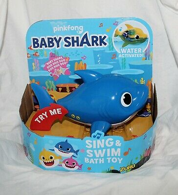 New Baby Shark Song Blue Robo Alive Junior Sing Swim Bath Toy Water Daddy Shark