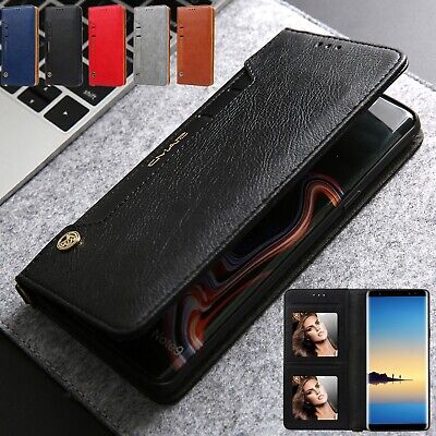 For Samsung Note 10+ Case S10 Plus S8 S9 Note 9 Magnetic Leather Card Slot Cover