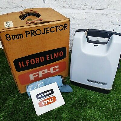 ILFORD ELMO FP-C 8mm Cine Film Projector Original Box & Instructions VGC
