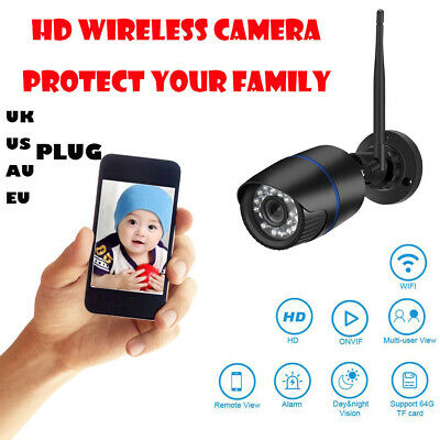 HD 720P Security Home Wireless WIFI IR Night Vision Motion Camera UK/US/AU/EU