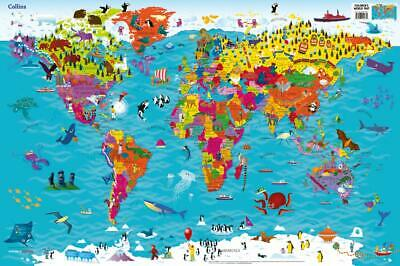Collins Children's World Map by Collins Maps New Map Book