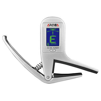 Aroma AC-05 2-in-1 Clip-on Guitar Bass Chromatic Tuner&Capo Z6B4