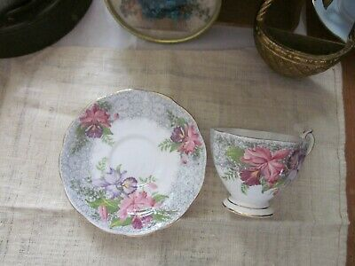 Vintage *Nottingham lace* Queen Ann set saucer and cup gorgeous