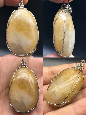Wonderful silver Agate stone from Afghanistan unique Silver Pendant