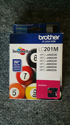 Genuine Brother LC201M Magenta Standard Yield Ink Cartridge NEW SEALED