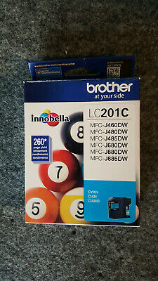 Genuine Brother LC201C Cyan Standard Yield Ink Cartridge NEW SEALED