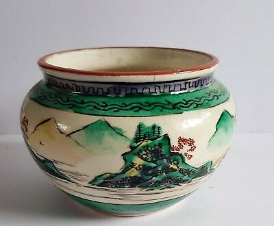 Japanese hand painted antique bowl signed