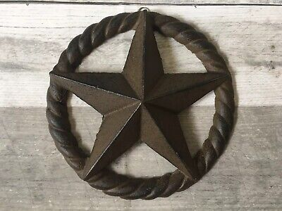 Cast Iron Star Texas Lone Star Rustic Ranch 7""