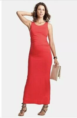 Isabella Oliver Red Lisle Maternity Maxi Dress. Size 3.