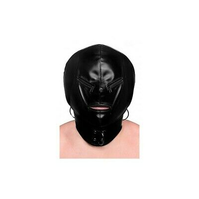 Hood Mask Zipper bondage mask maschera fetish bdsm uomo donna