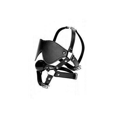 Eye Mask Harness with Ball Gag bondage mask maschera fetish bdsm uomo donna