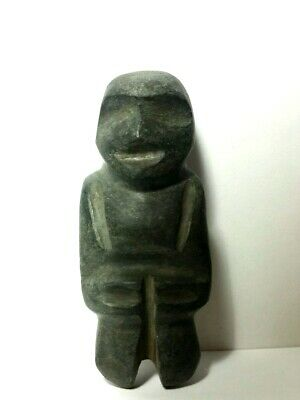 Pre-Columbian   Mezcala   Green Stone  Axe  Figure  3.75in  NO RESERVE
