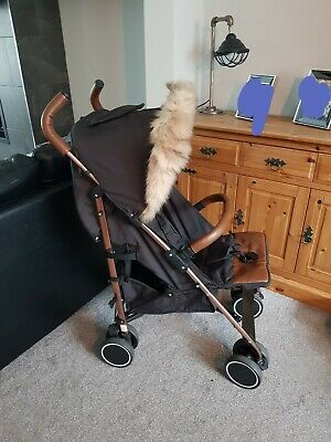 Ickle Bubba Black And Rose Gold Discovery Stroller pushchair.