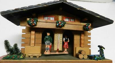Made In Germany Wooden Chalet-Wetterhauschen-Man&Woman Show The Weather