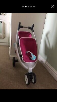 Smoby (Quinny) Doll's Double Pushchair, Buggy, Pram - Approx. Age 3-8 Years