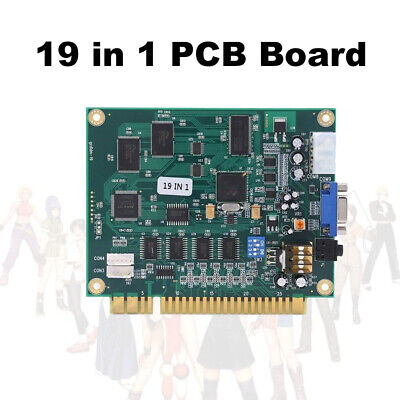 Horizontal 19in1 Multicade Game PCB Board FOR JAMMA Game CGA/VGA Classical AC732