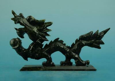 chinese old natural jade hand-carved dragon statue c01