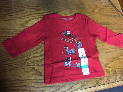 Baby Boys Christmas Holiday Long Sleeve Shirt  Sz 6 Months