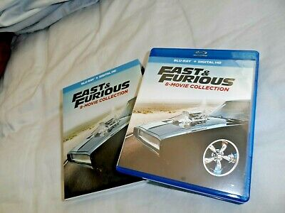 Fast and Furious: 8-Movie Collection (Blu-ray Discs ONLY, 9-Disc Set) SEE INFO!
