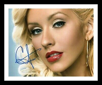 CHRISTINA AGUILERA AUTOGRAPHED SIGNED /& FRAMED PP POSTER PHOTO