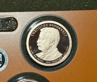 2013 S Proof Theodore Roosevelt Presidential Dollar Gem Deep Cameo