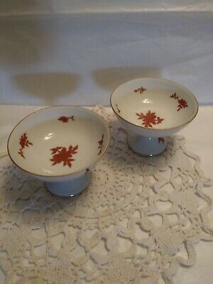 """"""" Two Old LJ Asian Footed Bowls, Compote dish, Sherbert Dish from the 1940's"""""""