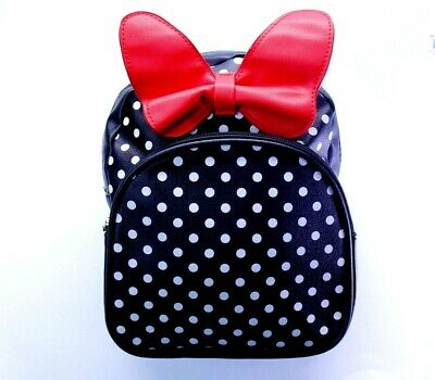 Red Backpack Minnie Mouse style /& free headband Very cute.