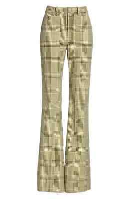 $975+ ADEAM Plaid Bootcut Pants 2019 Size 0 Made in Japan Nylon