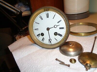 "Antique-French-Clock Movement ""Japy"" Ca.1880-To Restore-#T727"