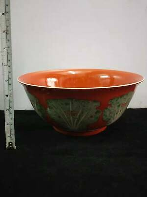 Chinese Antiques Porcelain Hand-painted Pastel Cabbage Dish Bowl Marks KangXi