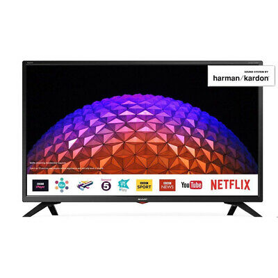"Sharp Black 32"" Inch LED SMART TV with Freeview Play HD and USB PVR Pause & Play"