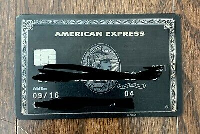 American Express AMEX BLACK CARD CENTURION CARD EXPIRED