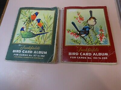 TUCKFIELDS BIRD CARD ALBUMS.Numbered 97-192 & 193-288.Near-complete.1960 s.