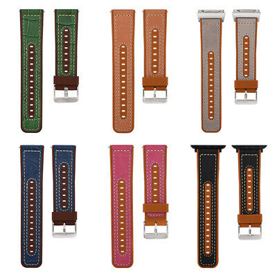 Replacement Sport Leather Watch Band Wrist Strap For Fitbit Ionic 22mm Bracelet