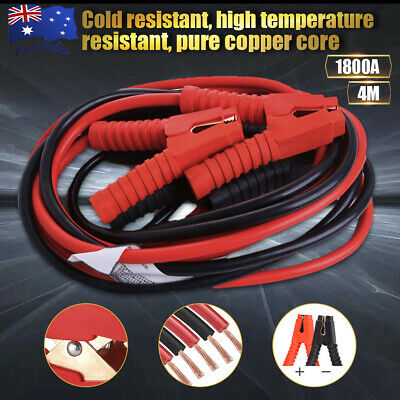 1800AMP 4M Jumper Leads Surge Protected Long Heavy Duty Car Jump Booster Cables